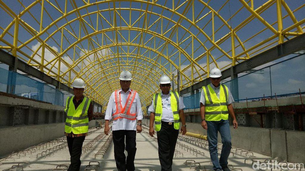 Menhub Tinjau LRT Palembang, Pastikan Rampung Sebelum Asian Games