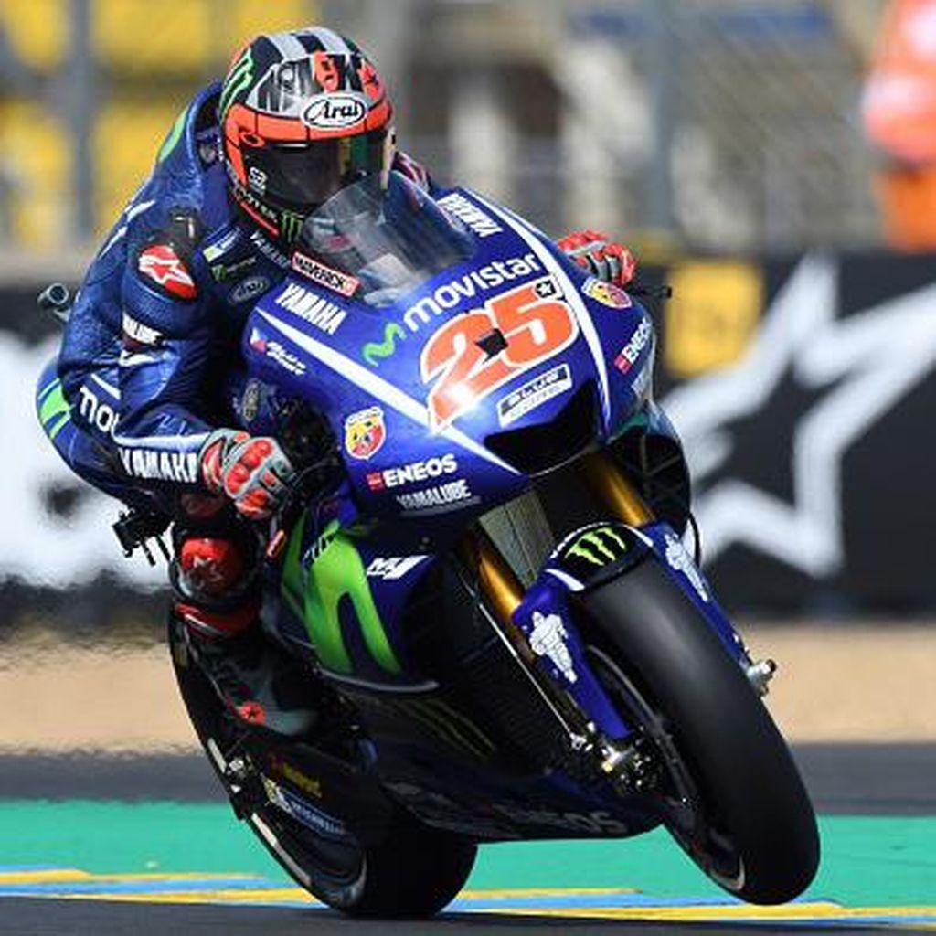 Dramatis di Prancis: Vinales Juara, Rossi Crash