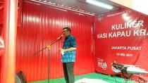 Djarot Resmikan Loksem Kuliner Nasi Kapau Kramat di Jakpus