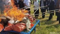 BNNP Jabar Musnahkan Narkoba Temuan Lapas dan Bea Cukai