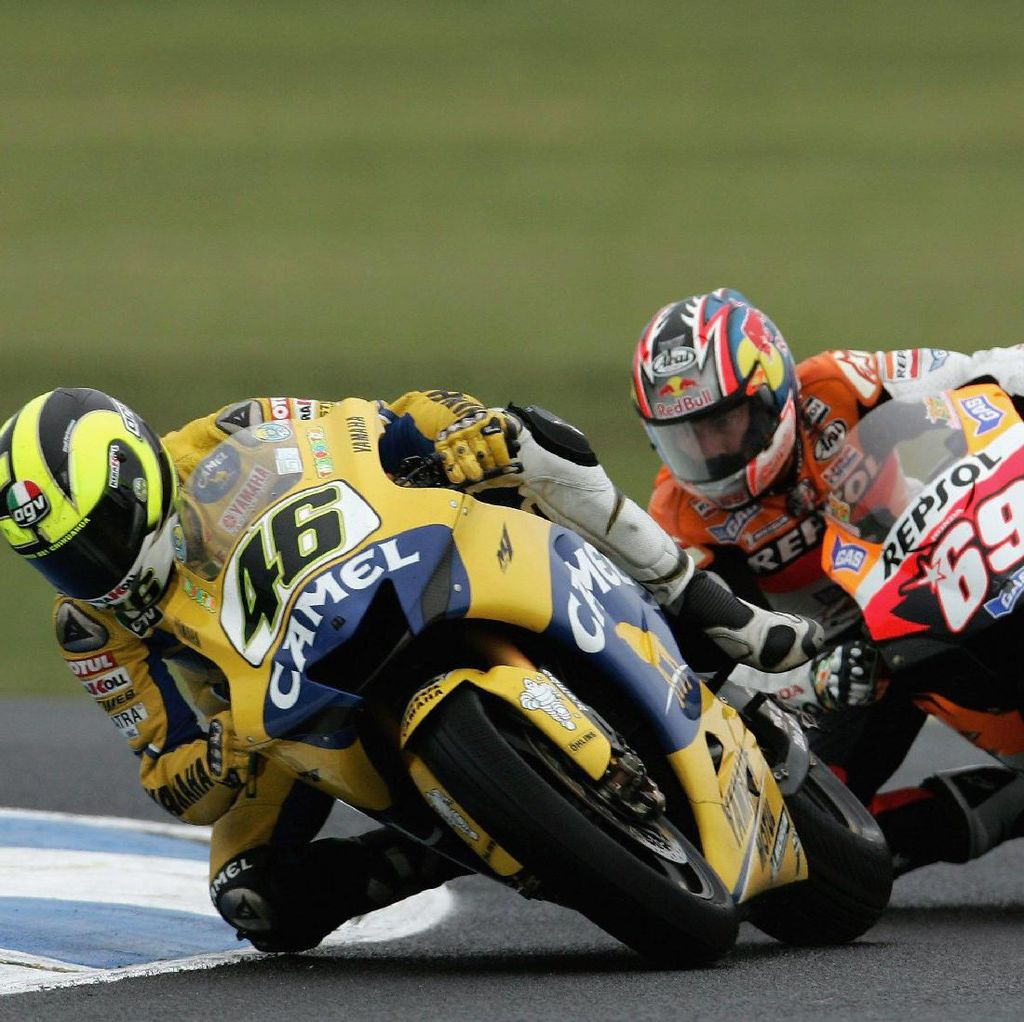 Mengenang Duel Sengit Hayden vs Rossi 11 Tahun Silam