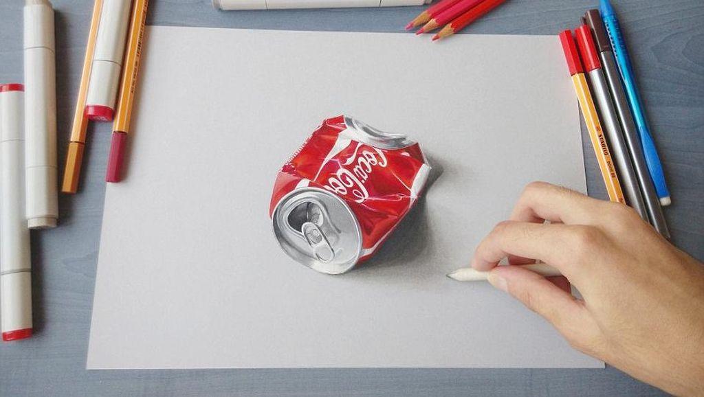 Lukisan 3D Seniman Palestina di Tengah Keterbatasan