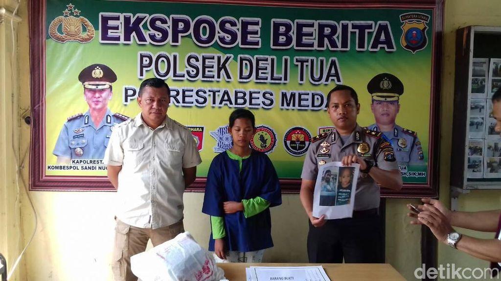 PRT di Medan Ditangkap setelah Culik Anak Majikan dan Minta Pulsa