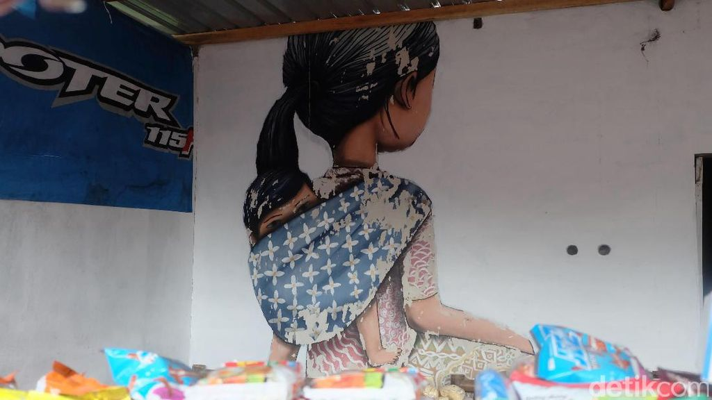 Mural Seth GlobePainter di Gunung Merapi yang Kini Jadi Warung