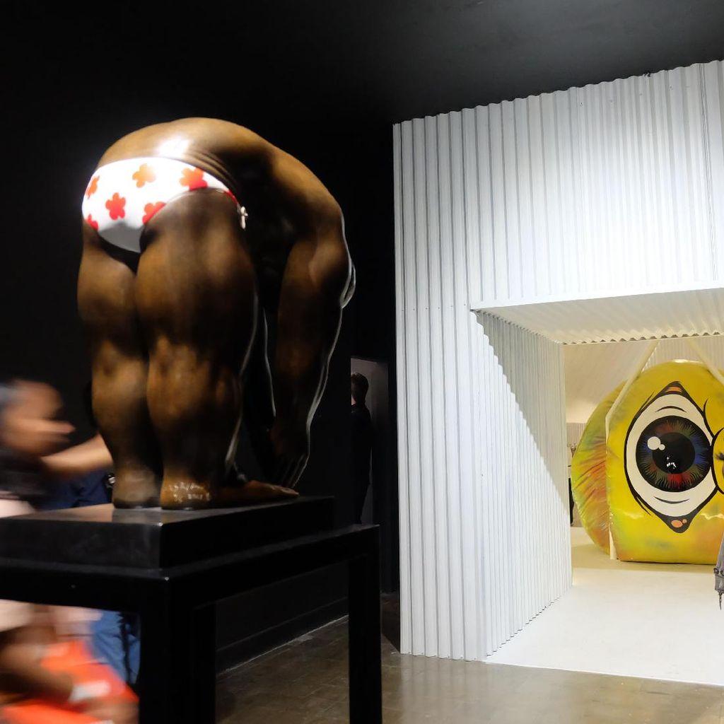 Patung Perunggu I Nyoman Masriadi di Art Jog 10 Dilirik Kolektor