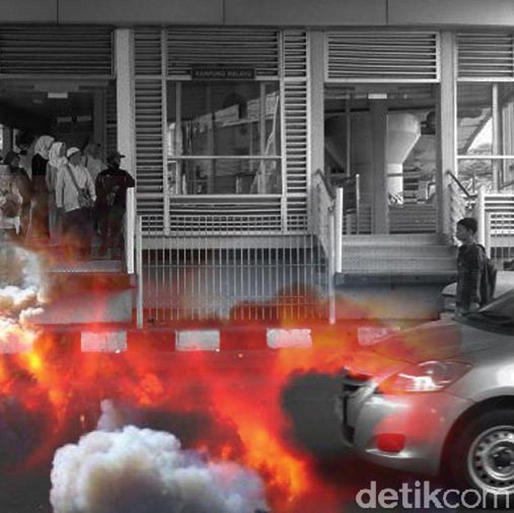 PT TransJ Buka CCTV Halte Kampung Melayu ke Polisi