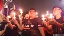 Usai Aksi Lilin di Balai Kota, Massa Pro Ahok Bubarkan Diri