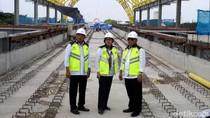 Kompak Berbaju Putih, 3 Menteri Jokowi Tinjau LRT Palembang