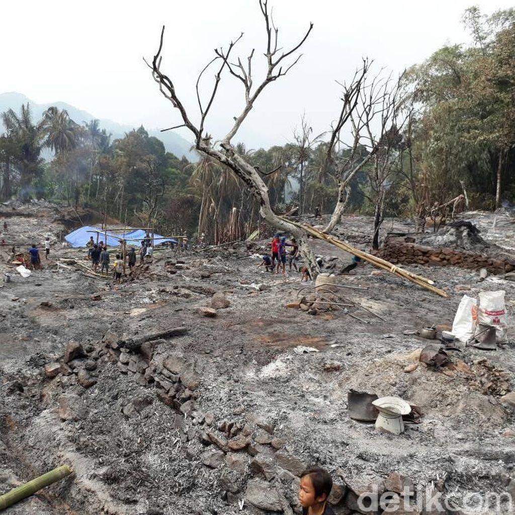 Satu Kampung Baduy Luar Kebakaran, Warga Butuh Bantuan Logistik
