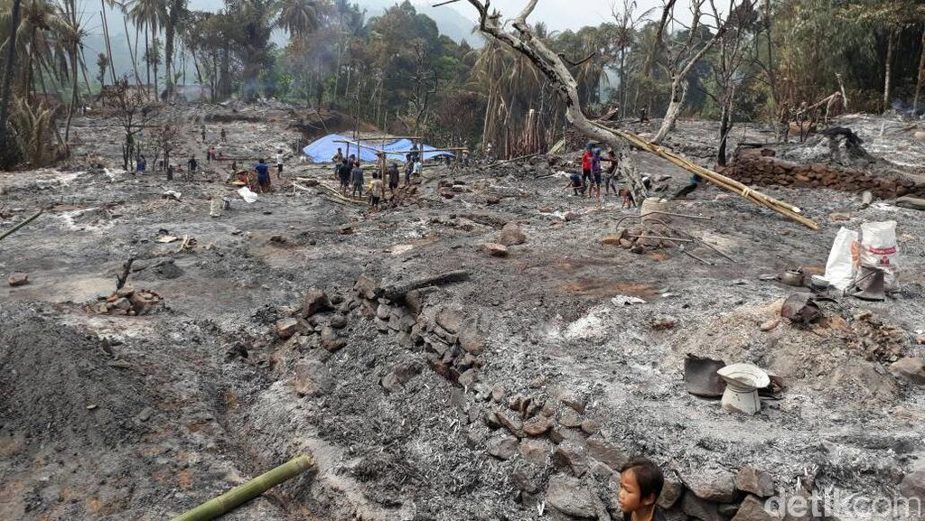 Kebakaran Satu Kampung Baduy Luar, 362 Orang Mengungsi