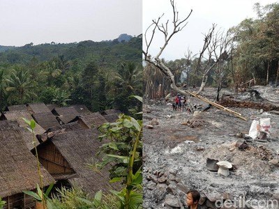 Ini Foto Baduy Luar yang Terbakar Habis, Sedih Banget Lihatnya