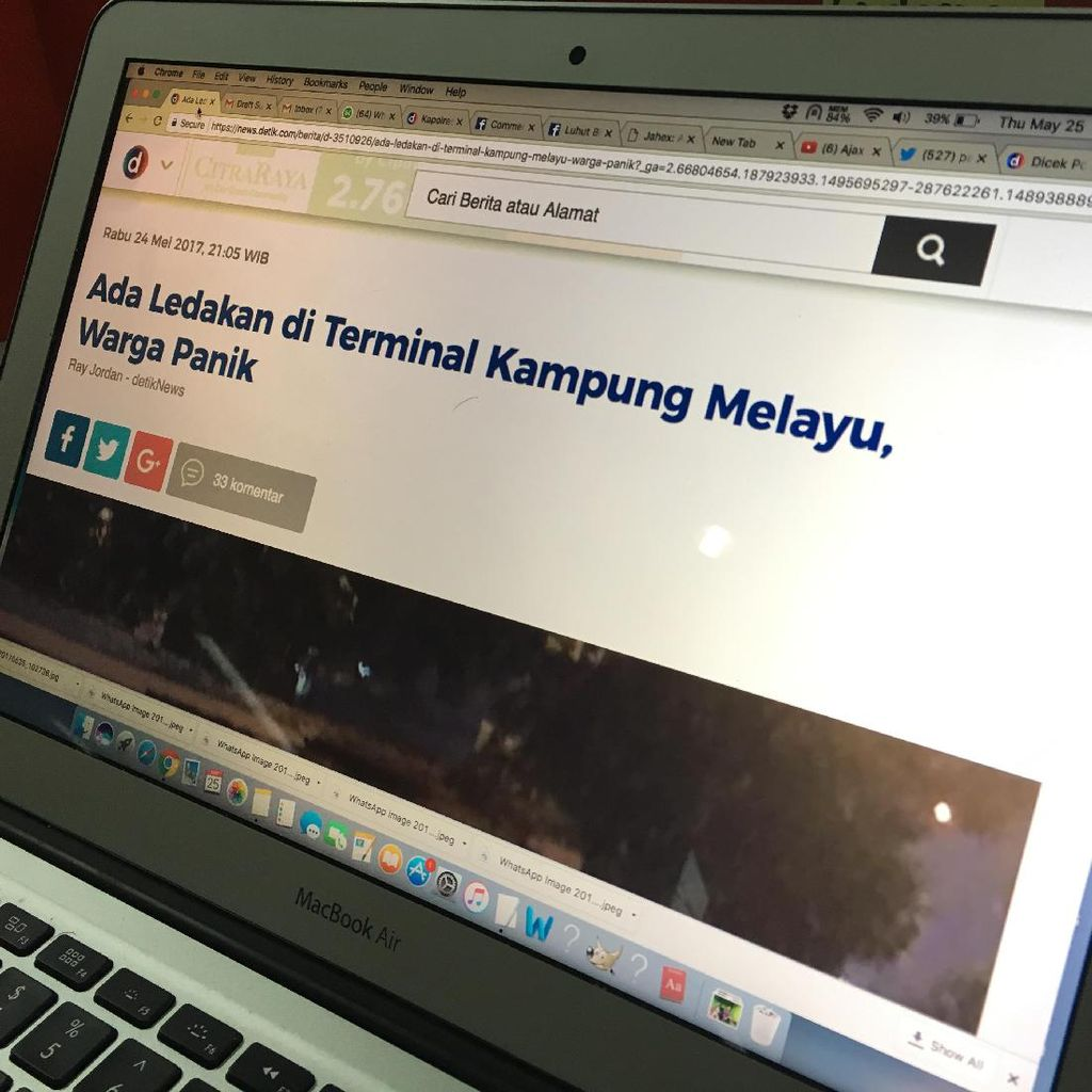 Bagaimana detikcom Sangat Cepat Memberitakan Bom Kampung Melayu