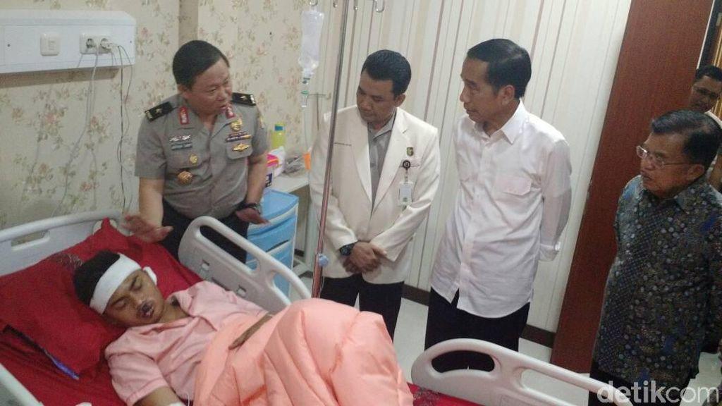 Jokowi dan JK Jenguk Korban Bom Kampung Melayu di RS Polri