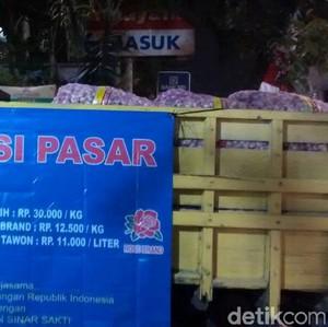 Di Pasar Ini Jual Bawang Putih Murah Rp 30.000/Kg