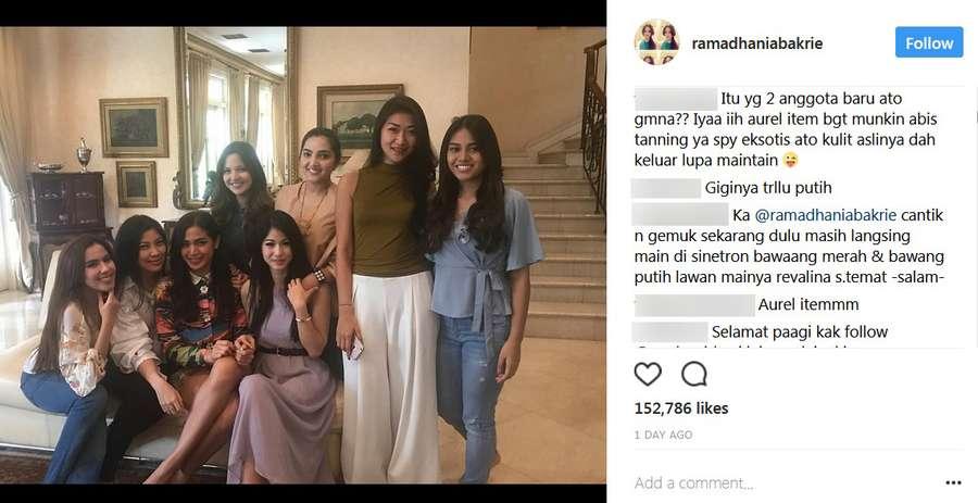 Duh, Aurel Hermansyah Jadi Sasaran Bully saat Foto Bareng Girl Squad