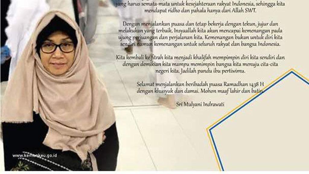 Tampil Berjilbab di Instagram, Sri Mulyani Ucapkan Selamat Puasa