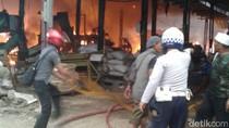 Gara-gara Rokok, Pabrik Pengolahan Limbah di Bogor Terbakar