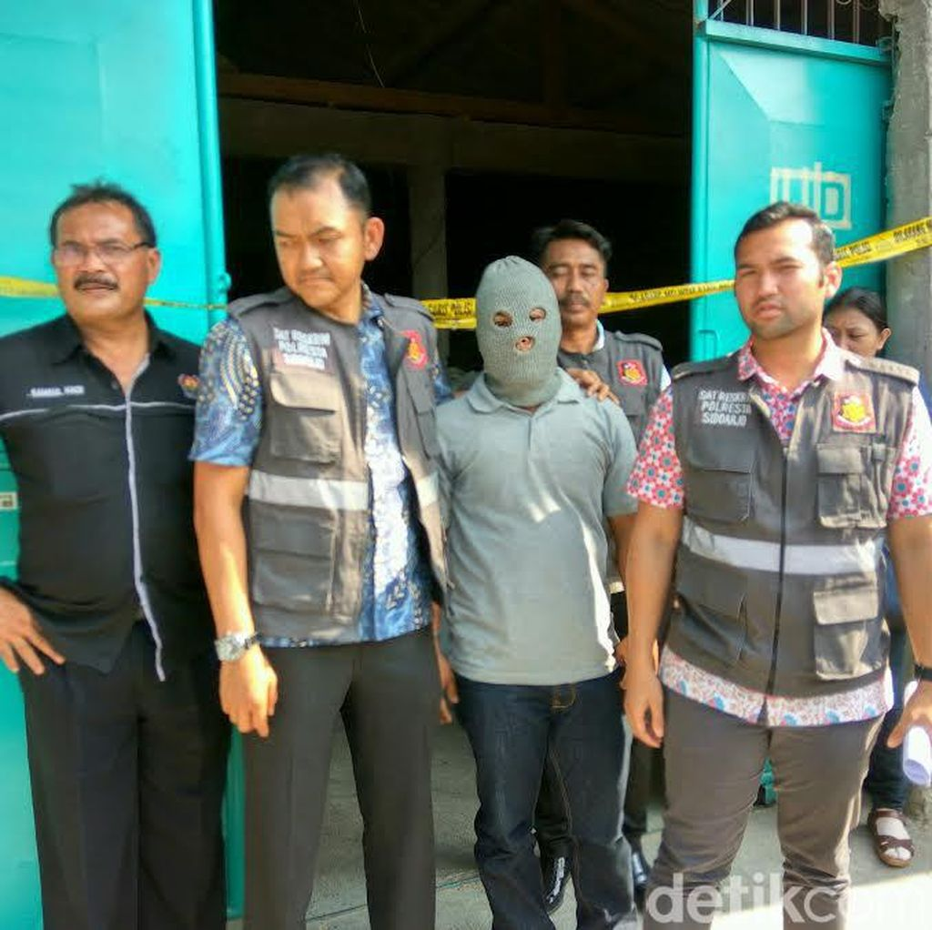 Polisi Gerebek Gudang Pengoplos Beras Raskin di Sidoarjo