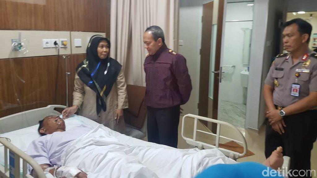 Polisi: Mata Kiri Bripda Yogi Korban Bom Kampung Melayu Rusak Total