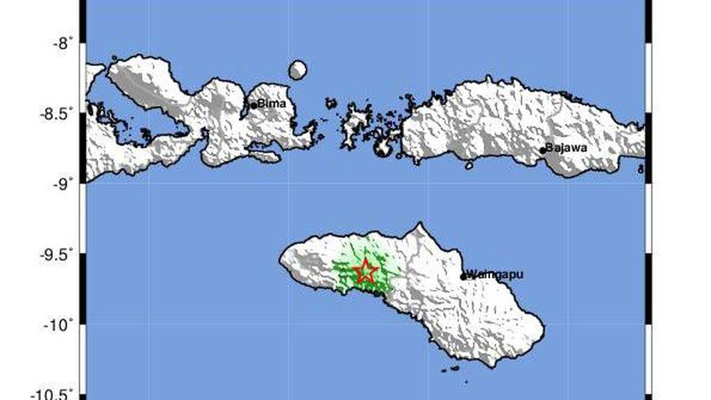 Gempa 4,4 SR Guncang Sumba Barat, Tak Berpotensi Tsunami