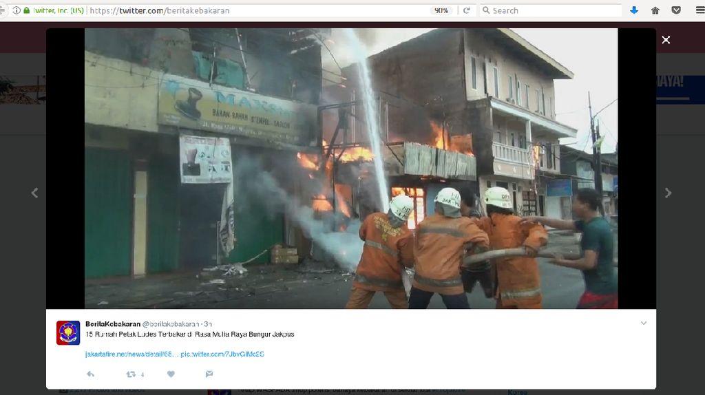 Kebakaran di Kemayoran Hanguskan 15 Petak Rumah