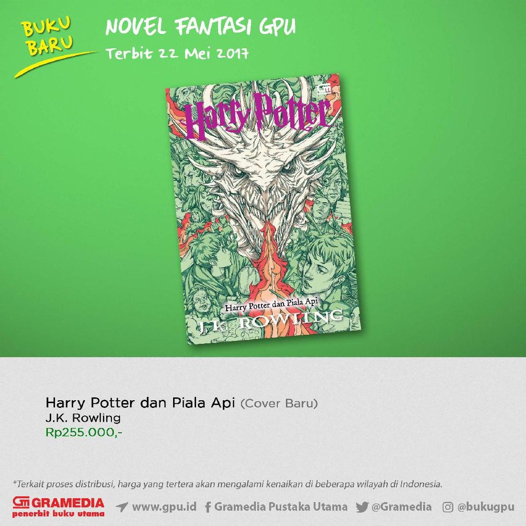 Ini Dia Sampul Buku Baru Harry Potter dan Piala Api