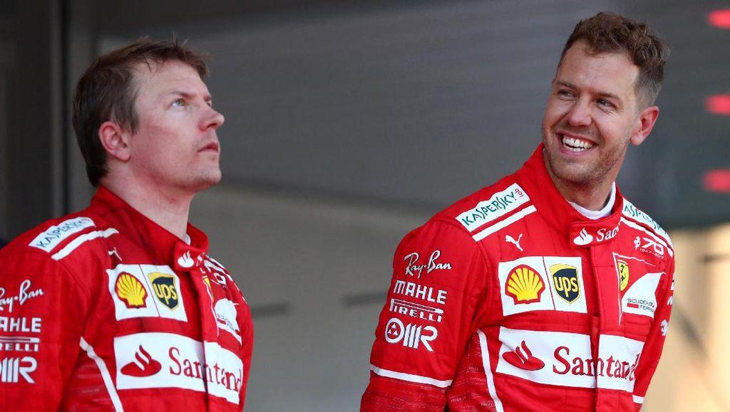 Vettel Bantah Ada Team Order, Pahami Kekecewaan Raikkonen
