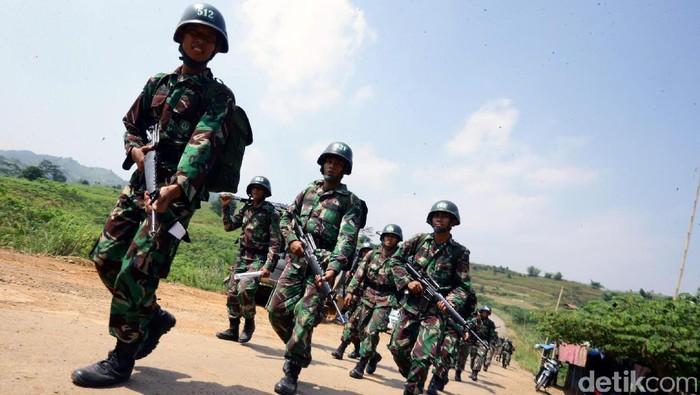 Jalur Puncak II Jadi Tempat Tentara Latihan