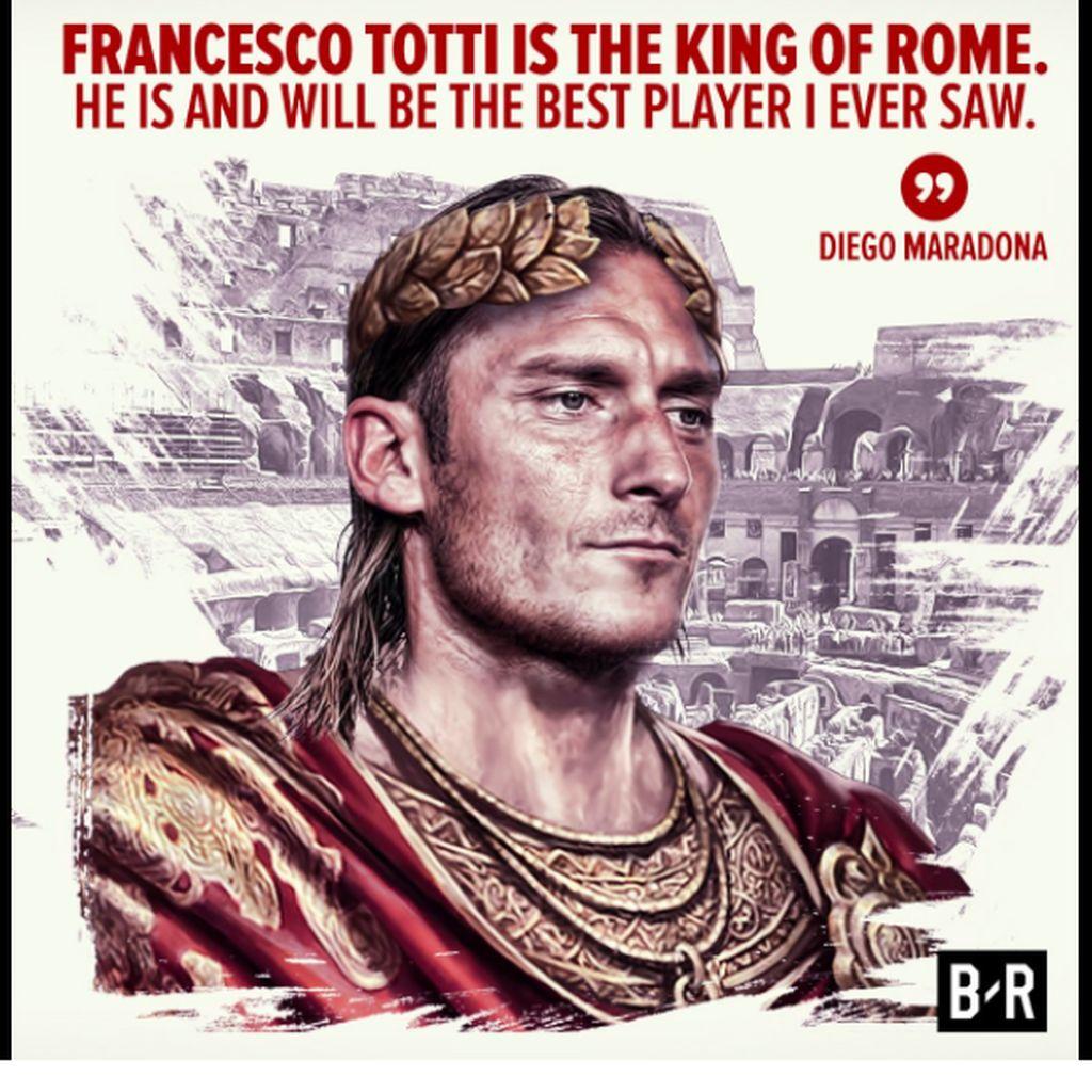 Ciao, Totti: Puja-puji untuk Sang Kaisar Roma