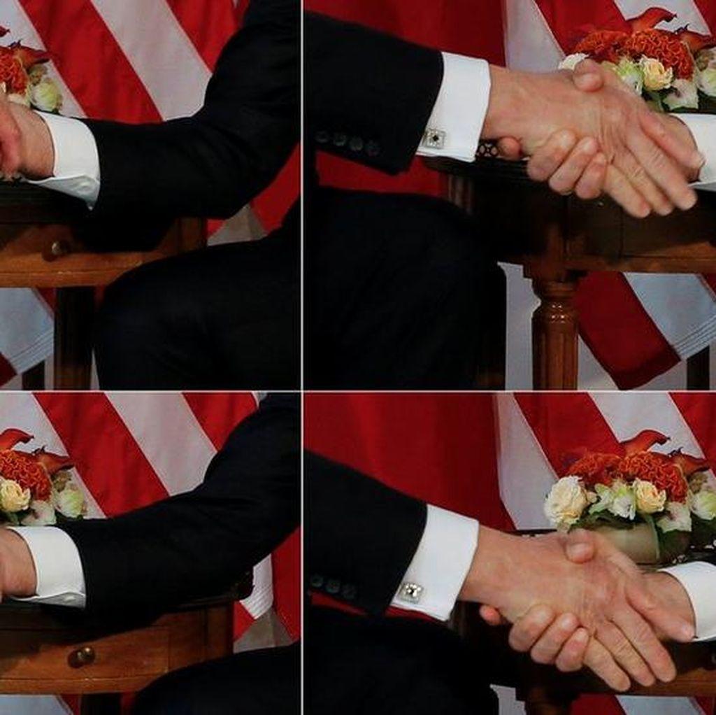 Kenapa Macron Menjabat Tangan Trump Sangat Erat?