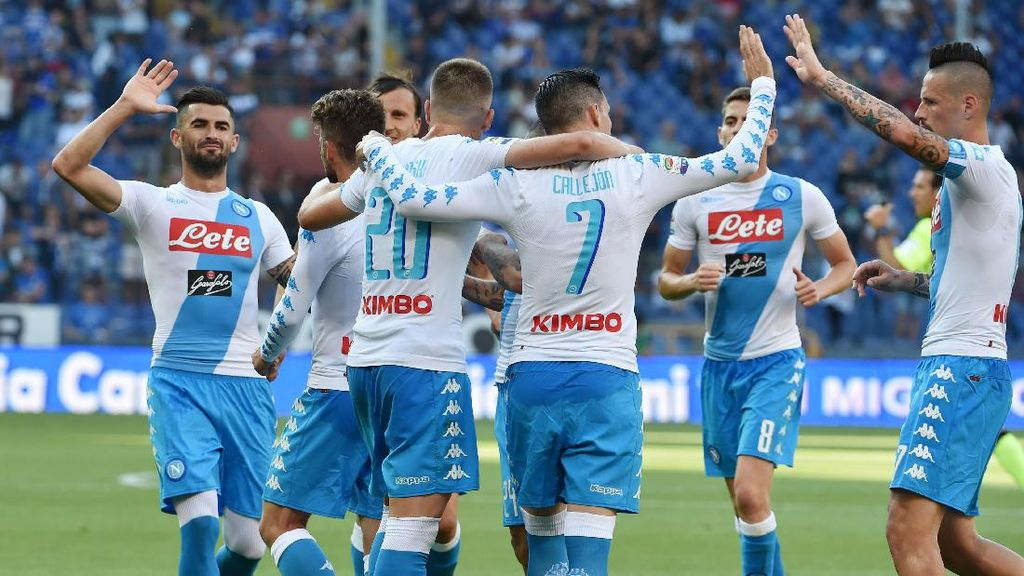Tekuk Sampdoria 4-2, Napoli Finis di Peringkat Tiga