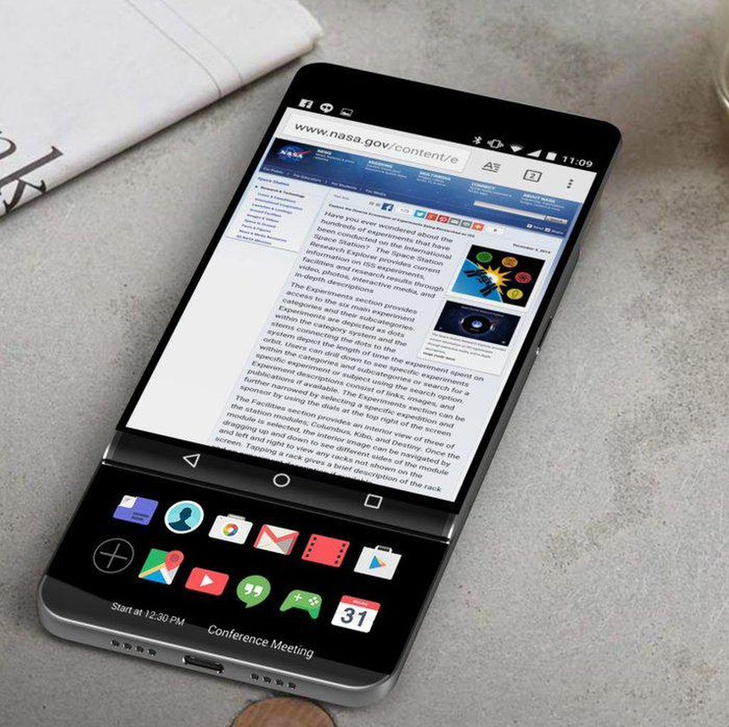 Desain LG V30 Mirip BlackBerry Priv?