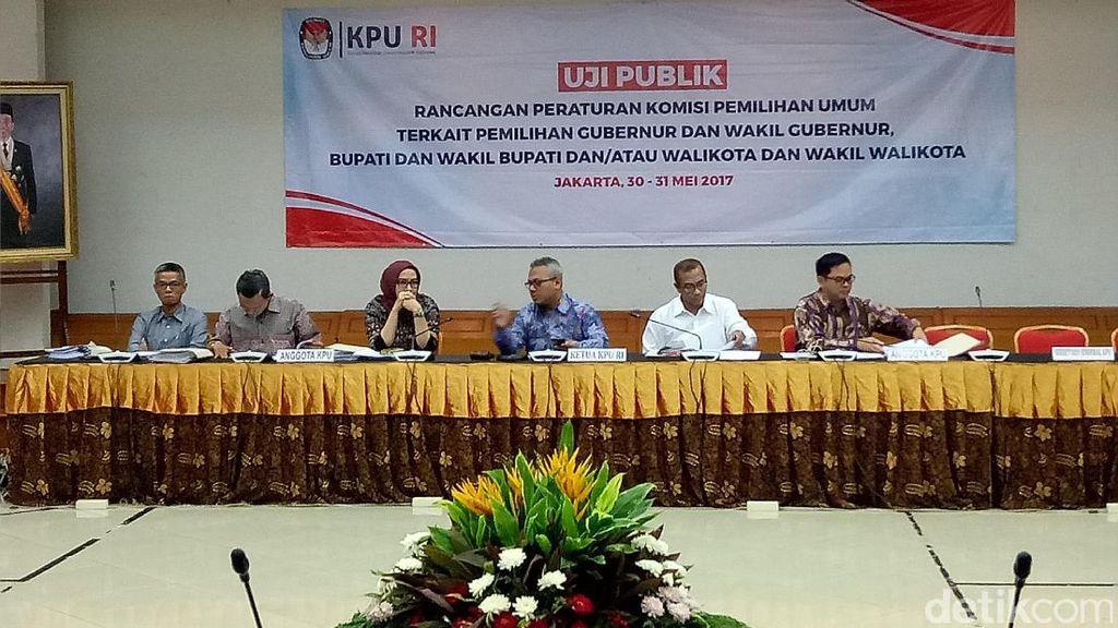 KPU Uji Publik Rancangan Aturan Jelang Pilkada 2018