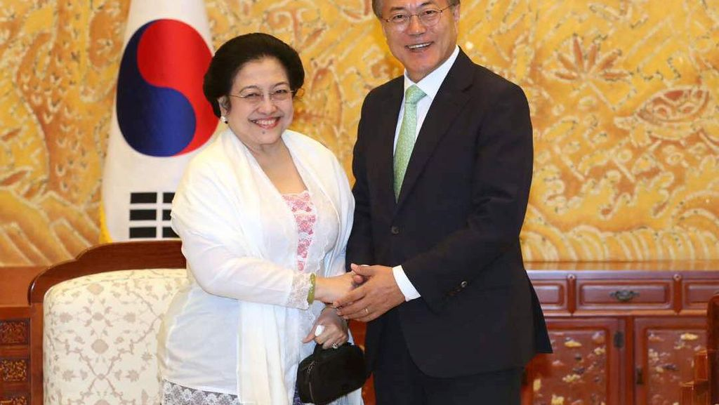 Bertemu Presiden Korsel, Megawati Diminta Berperan Satukan Korea