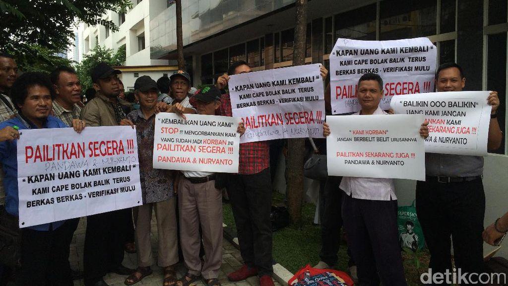Tuntut Pandawa Dipailitkan, Nasabah Gelar Aksi di PN Jakpus