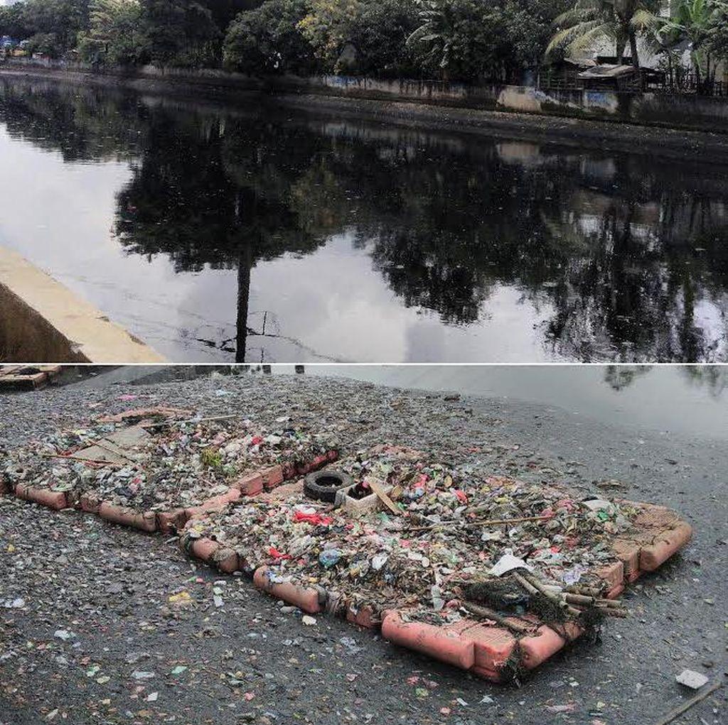 Wajah Kali Sekretaris Kini: Dikotori Sampah dan Bau Menyengat