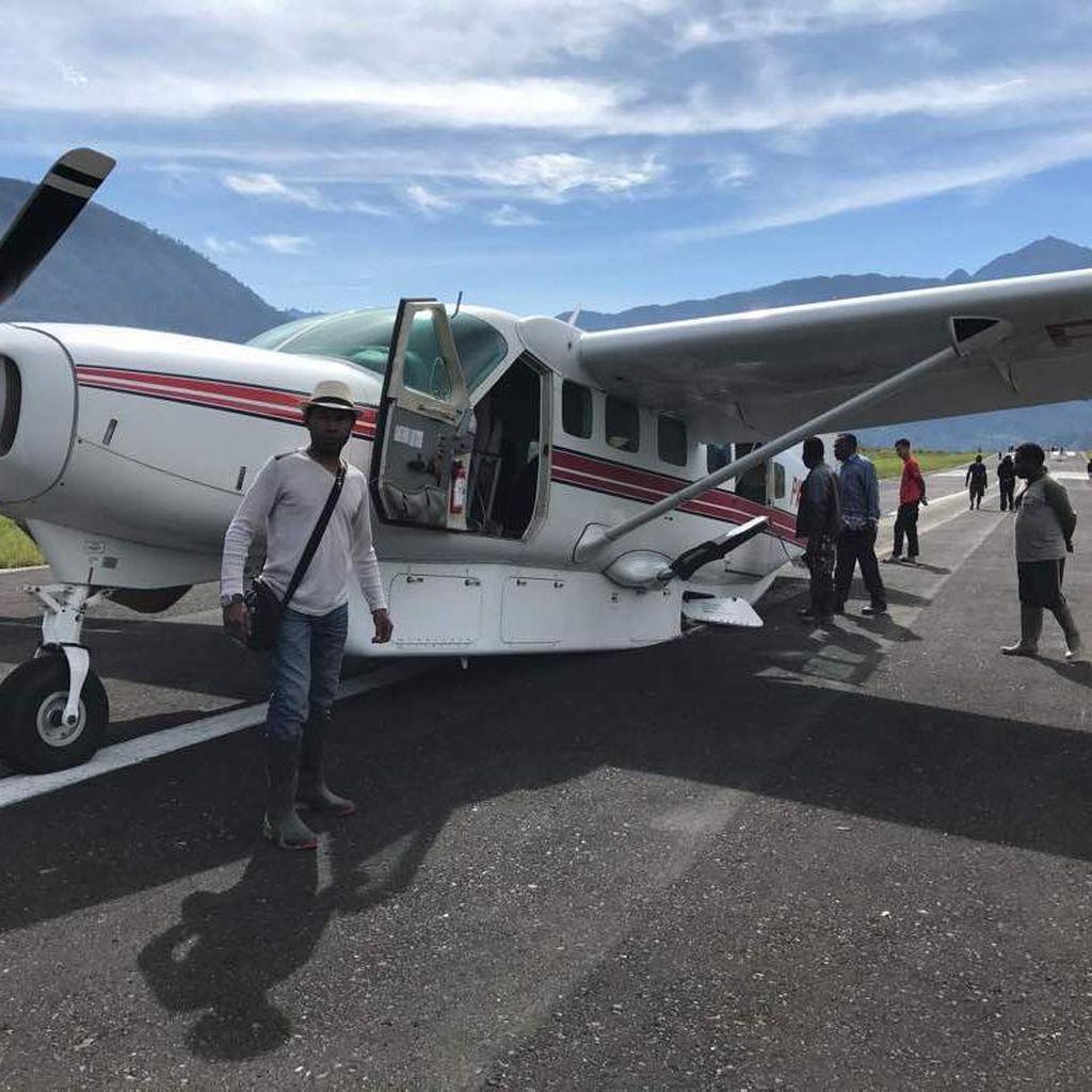 Pesawat MAF Tergelincir di Puncak Papua