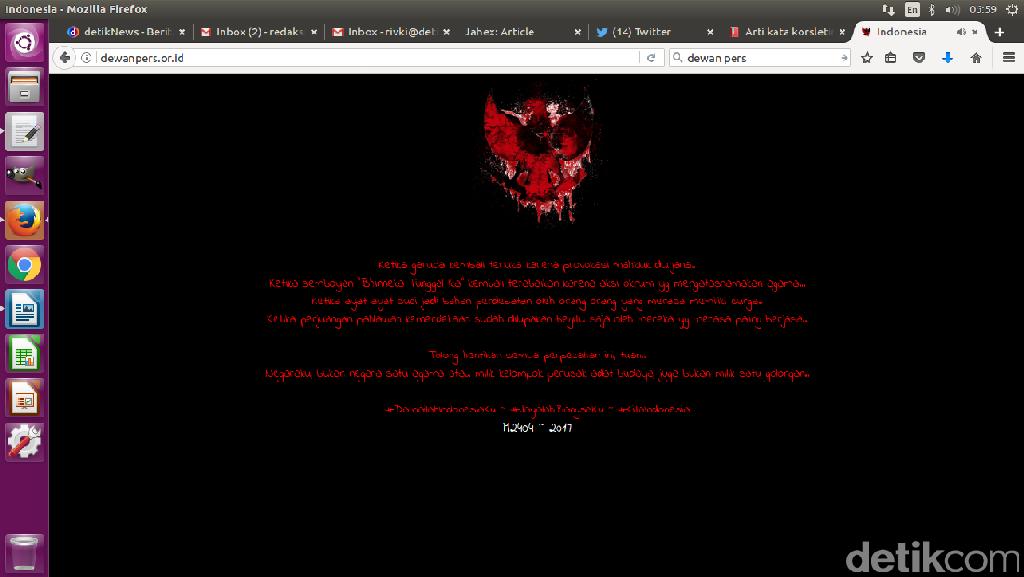 Situs Dewan Pers Sudah Normal, Kejagung Masih Loyo