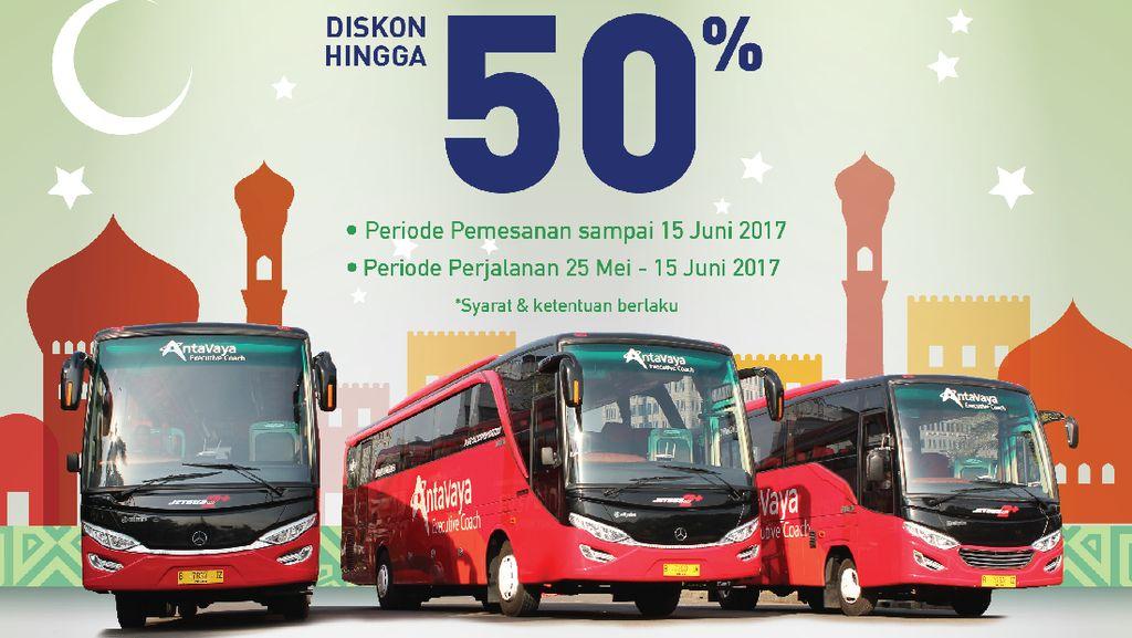 Wisata Religi Naik Bus AntaVaya, Diskonnya Sampai 50%!