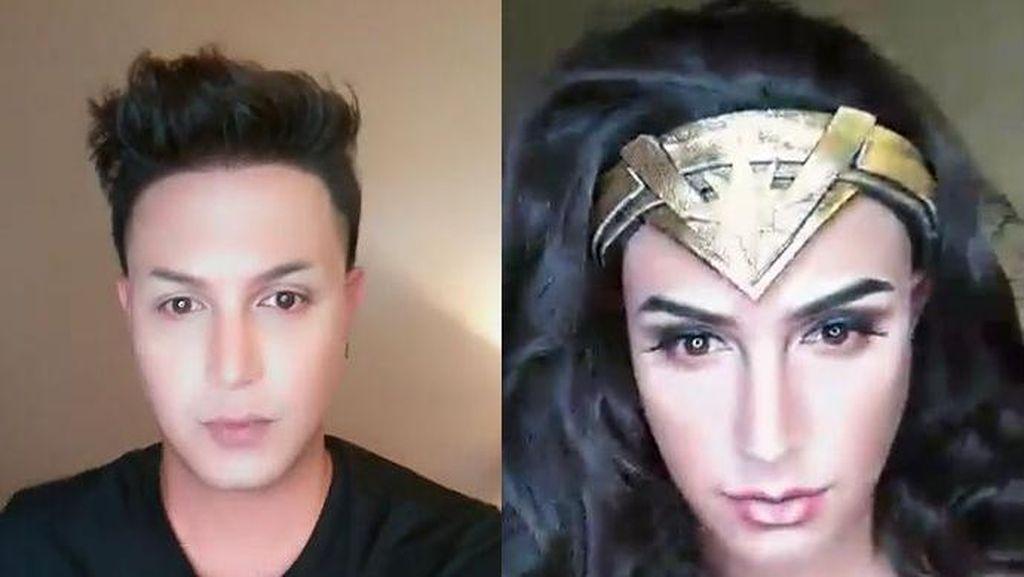 Makeup Jadi Wonder Woman, Pria Filipina Ini Dipuji Gal Gadot