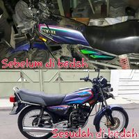 Motor sebelum dan sesudah dibedah