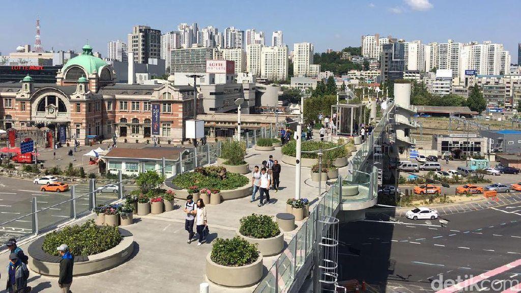 Kreatif! Bekas Jalan Layang Jadi Taman Cantik di Seoul