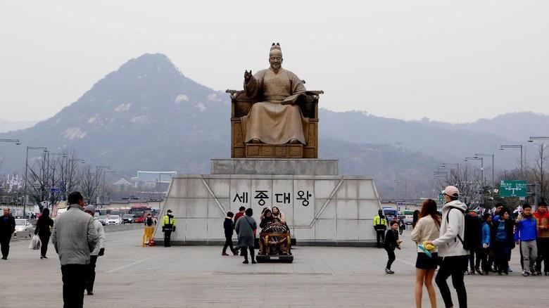 Foto: Gwanghwamun Square di Seoul (Kurnia/detikTravel)