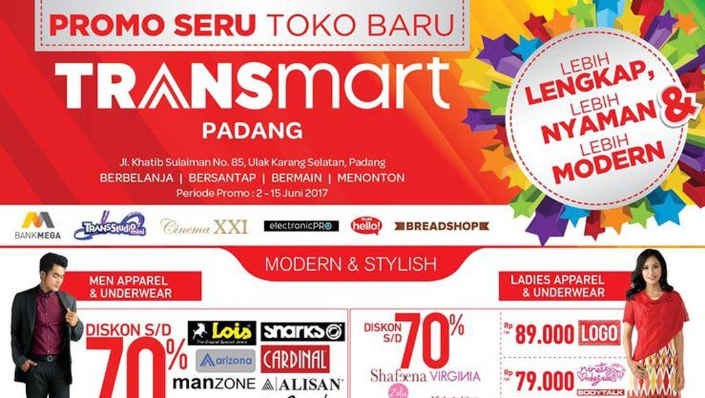 Masih Ada Promo Beli 2 Gratis 1 di Pembukaan Transmart Padang