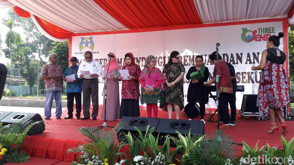 Menteri PPPA Hadiri Deklarasi Tolak Kekerasan Anak