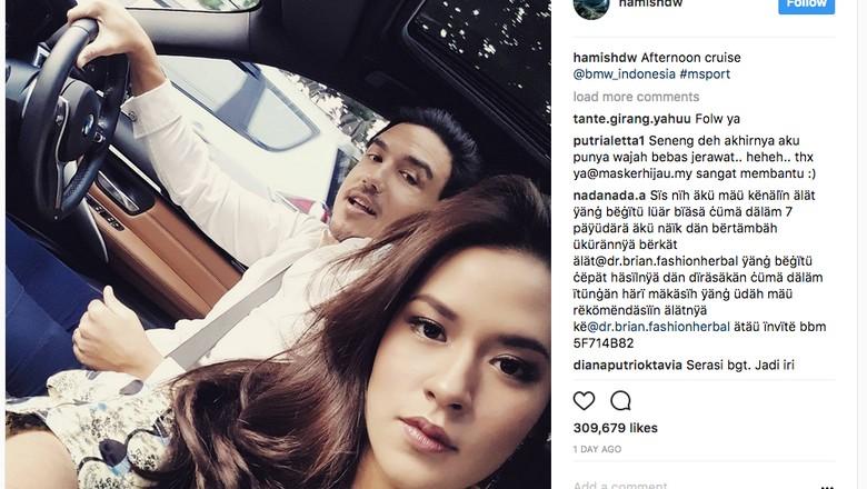 Hamish Daud Ajak Raisa Jalan-jalan Naik BMW