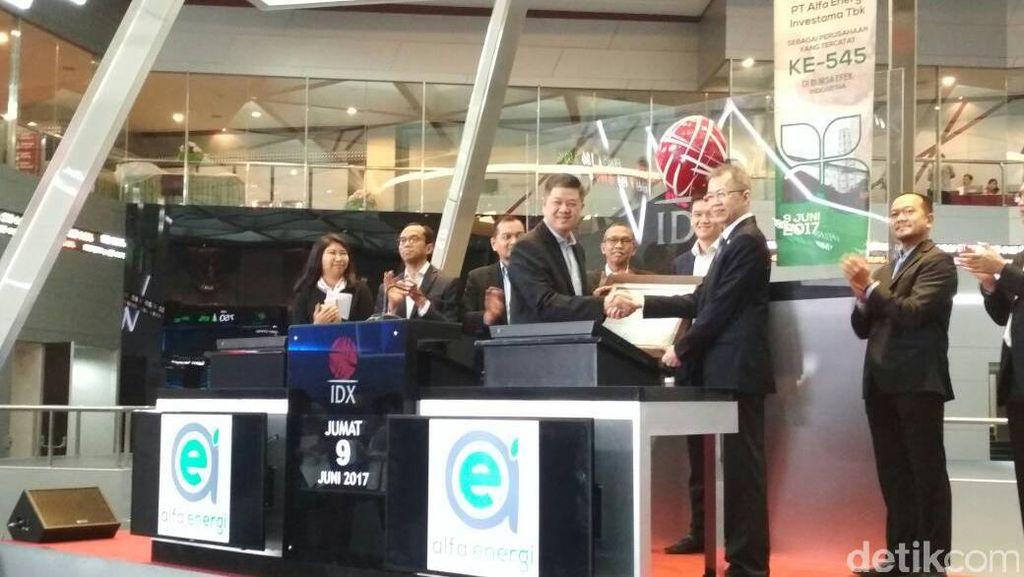 Alfa Energi Melantai di Bursa, Saham Menguat 50%
