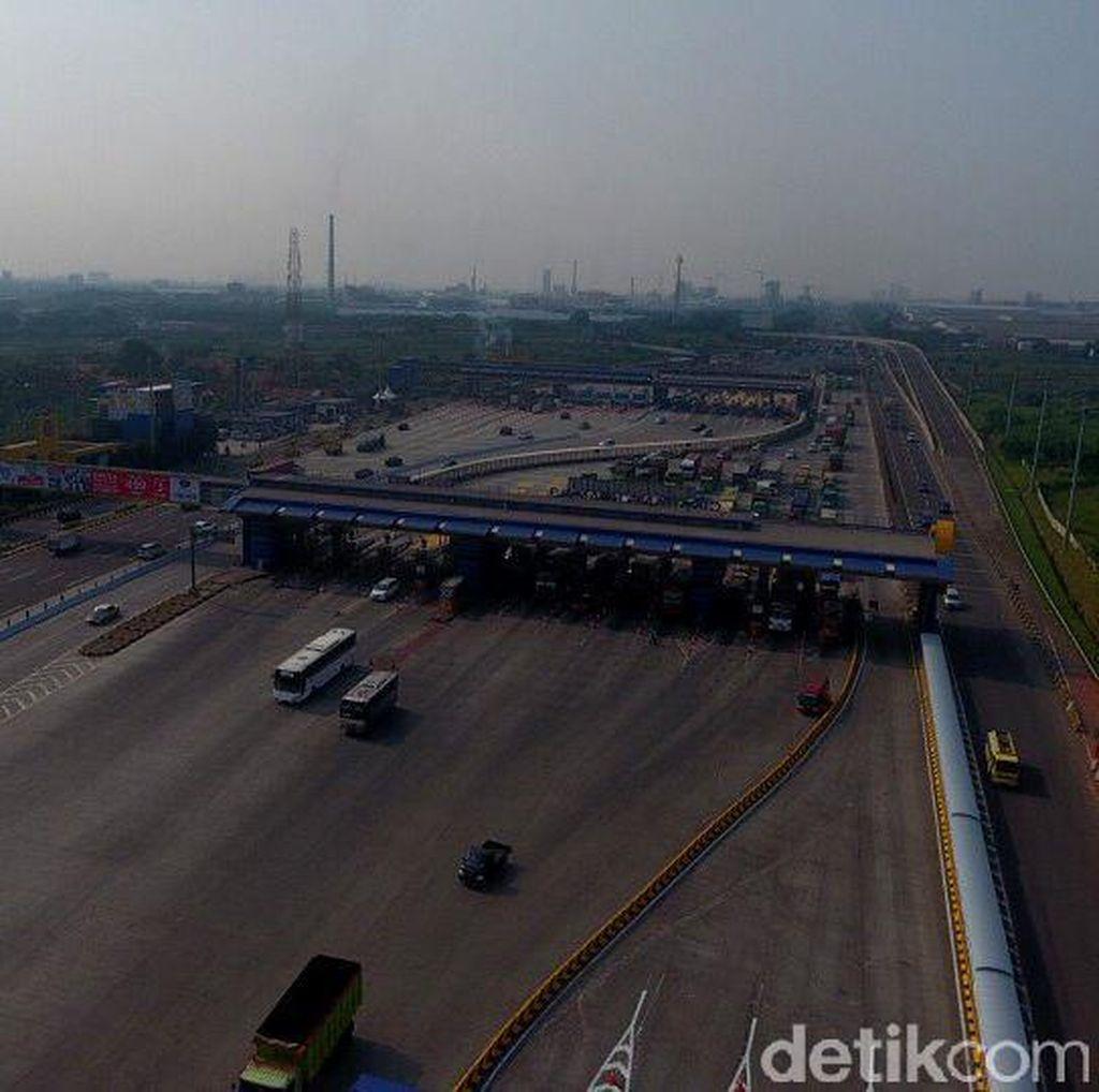 Tol Cikampek dari Jakarta Arah Karawang Lancar