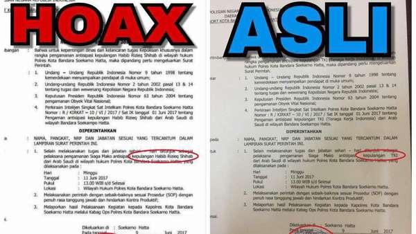 Beredar Surat Antisipasi Kepulangan Rizieq Besok, Polisi: Itu Hoax