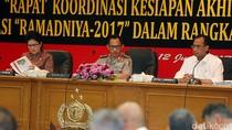 Kapolri dan Sejumlah Menteri Bahas Pengamanan Idul Fitri